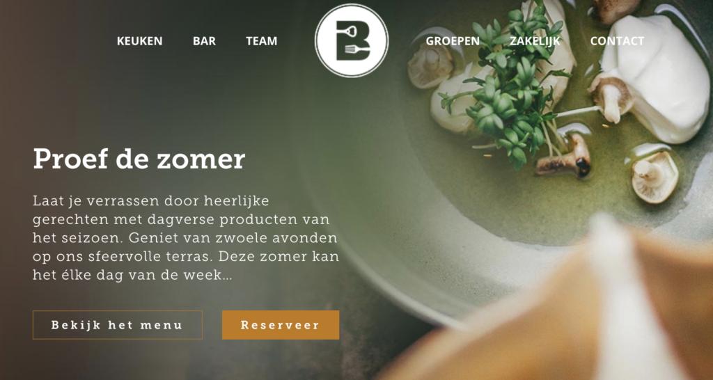 Website Restaurant Het Buitenhuys